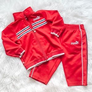 Puma red athletic outfit size 12-18 month